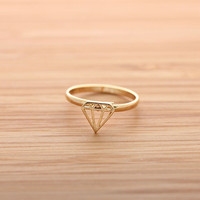 simple DIAMOND ring, 2 colors | girlsluv.it