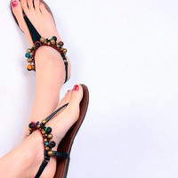 asian icandy Miao beaded sandal