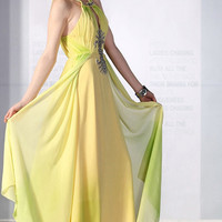 Noble Yellow Girls Wonderful Long Dresses : Wholesaleclothing4u.com