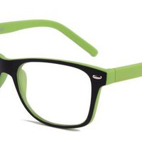 ?Alice? Eyeglasses with Green Plastic Aviator Full Frame/Rim Frame