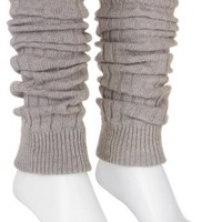 Capelli Solid Color Knit Leg Warmers GREY One Sz