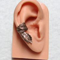 Filigree Leaf Forest Ear Cuff &#x27; right ear &#x27;