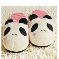 Wholesale Lovely Panda Shape Embellished Warmth Slipper  http://www.wholesale-dress.net