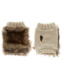 ASOS | ASOS Faux Fur And Knit Palm Warmer at ASOS