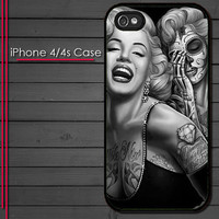 Marilyn Monroe Day of the Dead Style - iPhone 4 Case - iPhone 4s Case - iPhone 4 cover  skin Plastic