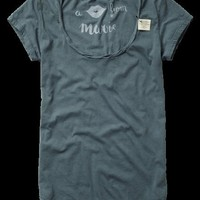 Twisted deep round neck tee - Tees & Tops - Scotch & Soda Online Shop
