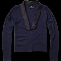 Tuxedo style cardigan - Knits - Scotch &amp; Soda Online Shop