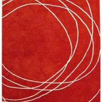 Bholu Nimboo Red/Cream Rug at Velocity Art And Design - Your home for modern furniture and accessories in Seattle and the US.