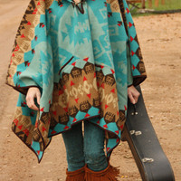 The HICkory Hill poncho - bluegrass | gypsyville