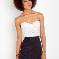 Erotica Lace Bustier - White in  What's New at Nasty Gal