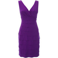 Purple Ity Tiered Dress - View All Sale - Womens Fashion - W... - Polyvore