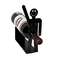 Happy Guy Metal Art Wine Holder Rack
