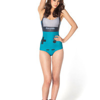 Gamer Turquoise Swimsuit | Black Milk Clothing