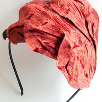 Oversized Velvet Leaf Headband