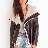 Draped Aviator Jacket in  What&#x27;s New at Nasty Gal