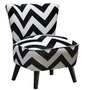 Amazon.com: Skyline Furniture Mid Century Modern Chair in Zig Zag Black and White: Home & Kitchen