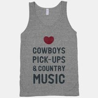 Cowboys Pickups & Country Music (Tank)
