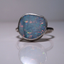 Sterling silver and Australian opal doublet ring