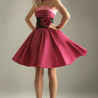 SALE! 2011 Prom Dresses! Night Moves Short Color Block Cocktail Dress- Size 0-18 - Unique Vintage