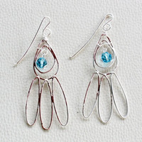 Abstract Peacock Feather Earrings
