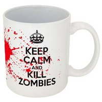 Amazon.com: Keep Calm and Kill Zombies-- Funny Coffee Mug!!-- Printed & Tested In The USA!! (11oz, White Kill Zombies): Home & Kitchen