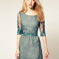 Darling | Darling Embellished Lace Trim 50&#x27;s Dress at ASOS