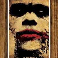 Batman Movie Poster - The Dark Knight  - Joker Face