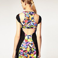 Josh Goot | Josh Goot for ASOS Digital Print Racerback Jersey Dress at ASOS