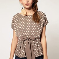 A Wear | A|Wear Polka Dot Tie Top at ASOS