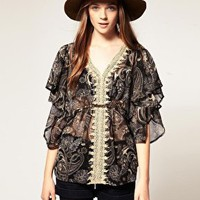 A Wear | A|Wear Paisley Cape Top at ASOS