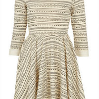Petite Geo Stripe Skater Dress - New In This Week  - New In