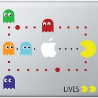 Pac Man Decal Mac Decals Macbook Sticker MacBook by DecalsandSuch