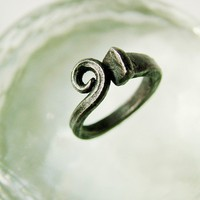 Scrolled Iron Nail Ring by citizenobjects on Etsy