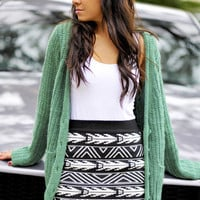It's A Wonderful Life Cardigan: Green | Hope's