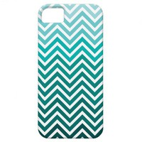 Seafoam Ombre Chevron iPhone 5 Cases from Zazzle.com