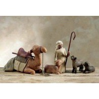 Willow Tree-: 4 Piece Shepherd  Stable Animals Nativity