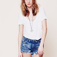 Free People Dolphin Hem Denim Cutoff
