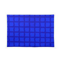 Bright Blue Lattice Pattern Placemats from Zazzle.com