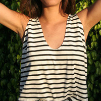 The Everyday Tank &quot;Black/White Stripes&quot; | VidaKush