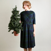 1960s Jane Derby for I. Magnin Vintage Plaid Dress - Medium