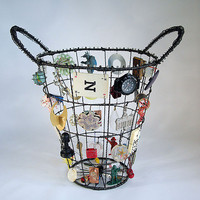 My Life as a Basket, Cone Shape: Sally Prangley: Metal Basket - Artful Home