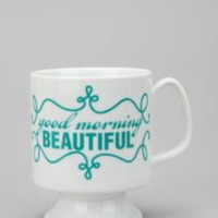 UrbanOutfitters.com &gt; Good Morning Beautiful Flared Mug