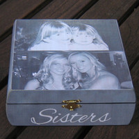 Personalized Maid of Honor Keepsake Box, Sister Gift, Custom Bridesmaid Memory Box, Wedding, Bridal Shower Gift, Unique Christmas Gift