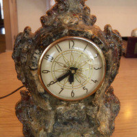 Clear Resin Clockunique one of a kind by TheTravelingOwlShop