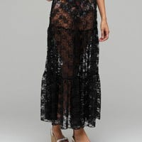 Need Supply Co. / Long Maxi Lace Skirt