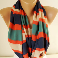 Infinity Scarf,  Loop Scarf...Color Dancing.....Chiffon... Scarf.