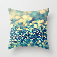 Blue and Silver - an abstract photograph Throw Pillow by Amelia Kay Photography | Society6