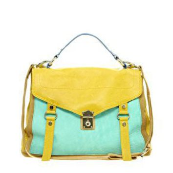 ASOS | ASOS Leather Colour Bmlock Satchel at ASOS