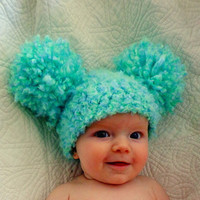 Baby Hats Baby Girl Hats Baby Pom Pom Hats Crochet Baby Girl Hats Newborn Photography Props Hats Photo prop Christmas gift ideas