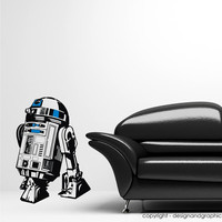 Large Star Wars R2-D2 vinyl wall decal